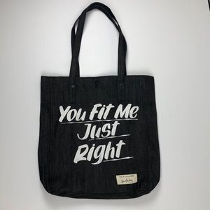Rag and Bone Baren Von Fancy Denim Tote Bag